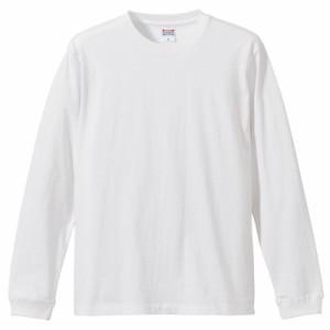 United Athle 5.6オンス ロングスリーブTシャツ(1.6インチリブ) ホワイト XS〜XLサイズ