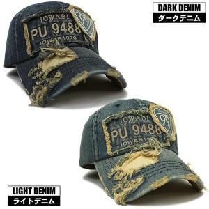 帽子 キャップ デニムキャップ ダメージデニム キャップ99 男女兼用