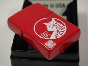 ジッポーキャットZippo 墨絵画家 本多豊國   猫 見返り美人  レッド赤 CAT 新品新品200