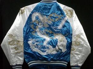 スカジャン つづき龍虎 日本製本格刺繍のスカジャン 2L