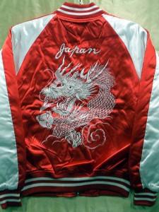 スカジャン 銀玉龍 日本製本格刺繍のスカジャン