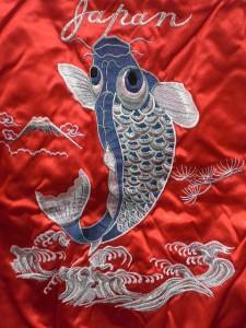スカジャン 鯉 日本製本格刺繍のスカジャン