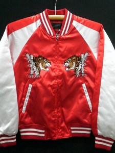 スカジャン 日本製本格刺繍のスカジャン2L  竹虎