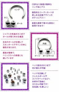 【送料無料】■サーキュラーバーベル/10G[ボディピアス/ボディーピアス/バーベル型]