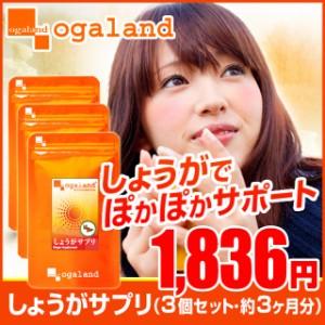 しょうがサプリ(3個セット・約3ヶ月分)3150円以上送料無料 サプリ サプリメント 健康食品 温活 生姜