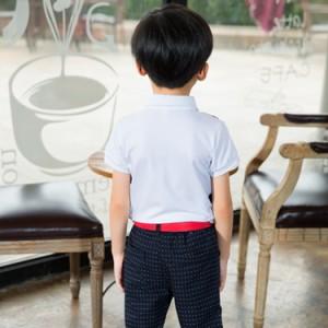 2枚送料無料!ジレ 男の子フォーマルスーツ上下2点セットアップ子供服キッズベストシャツ+ハーフパンツ結婚式発表式 ドット柄水玉