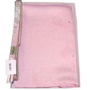 正絹 帯締め帯揚げセット 平組 帯〆帯揚げセット ピンク 66387