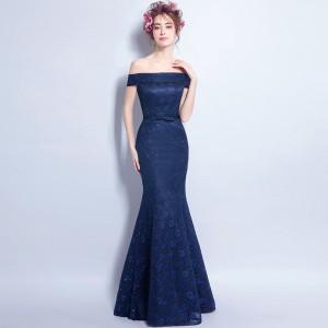 新品 高品質 贅沢 ウェディングドレス パーティードレス ロングドレス オフショルダー 二次会 披露宴 演奏会 発表会 マーメイドライン
