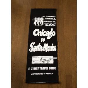 ミリタリーナイロンフラッグ タペストリー (CHICAGO TO SANTA MONICA BLACK)