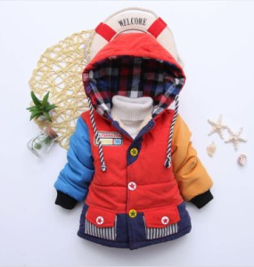 ジャケット 子供服 子ども キッズ ベビー 上着 防風防寒 暖かい アウター 冬物 フード付き 軽めアウター 軽量 コート