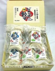 【全国送料無料】房総ジャンボ&海老ジャンボ餃子25個詰合せセット