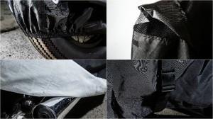 タフなバイクカバー オートバイカバー 耐熱生地(ケース付)大型 2Lサイズ 高品質 厚手生地 撥水加工 バイクアクセサリー