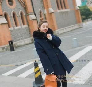 ファーコート アウター プラスサイド ファー領 レディースコート 防寒ジャケットふんわり 美スタイル ウェディングパーティー