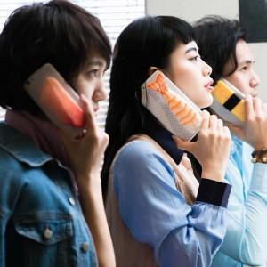 スシーン寿司モデルiPhone7/6/6sケース サーモン