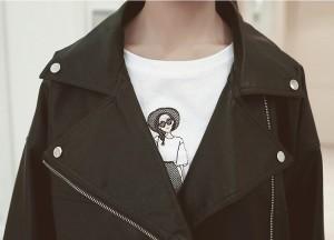 大きいサイズ レディースL〜5L ダブルライダース フェイクレザージャケット アウター コート 冬 新作【予約】edmvm-20178TS