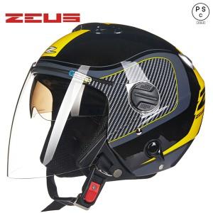 バイクヘルメット バイク用 ダブルシールド 男女共用ヘルメット ジェット 3/4ヘルメット ハーレー PSC付き【送料無料】EUS-202FB