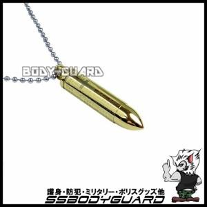 カラー弾丸ネックレス ゴールド