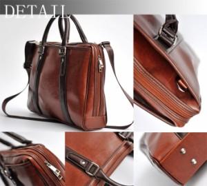 2WAYビジネスバッグ/ショルダーバッグ/紳士バッグ/3方開き/たっぷり収納/多機能/メンズバッグ/ブリーフケース