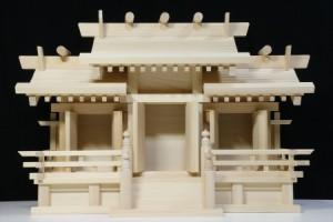 美しい、東濃桧■屋根違い三社■木の風合/金具の無い 神棚■小