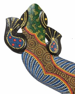 壁掛け トカゲ 太目ドットペイント K [約95cm] エスニック バリ アジアン アジアン雑貨