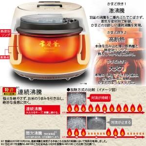 炊飯器 三菱電機 IH炊飯ジャー「NJ-AW108-B」(黒銀蒔) 5.5合炊き 本炭釜シリーズ