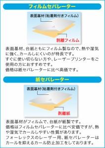 インクジェット用 フィルムラベル 光沢ホワイト(紙セパレーター使用) A4/50枚入