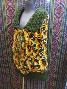ウール手編みフリース付エスニックポンチョエスニック衣料エスニックアジアンファッション