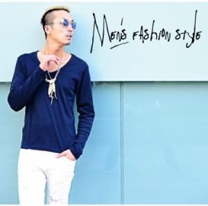 Tシャツ メンズ 長袖  ロンT ロングTシャツ 長袖Tシャツ 【メール便対象】 Vネック trend_d 無地 mf_min 定番