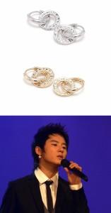 韓国スター・アクセサリー JYJのジュンスst. ドーナツ ピアス EARRING(2個1セット/2種1択)