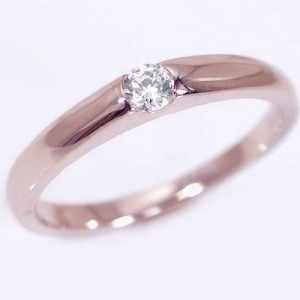 ダイヤモンド ピンクゴールド ホワイトゴールド 結婚指輪 マリッジリング ペアリング ペア 2本セット K18 指輪 ダイヤ 0.1ct
