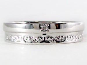 指輪 ホワイトゴールドk18 ダイヤモンドリング ピンキーリングとしてもおすすめ ダイヤリング ホワイトゴールドk18指輪ダイヤ0.01ct
