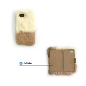iPhone アイフォン iPhone6 6s 7 手帳型 ケース スマホ 携帯 ケース カバー ファー モンスター