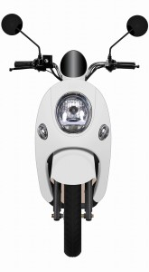 【電動バイクに乗ろう】電動バイク|電動スクーター|EV|yuppe2(ユッペ2)|クリームホワイト|ツバメイータイム