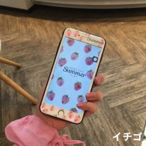 iPhone7/7 Plus用角が割れない強化カラーガラスフィルム/シート/シール/果物デザイン/硬度9H/簡単に貼り付けタイプ【G155|G156】