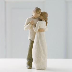 送料無料【Willow Tree ウィローツリー彫像 Promise - 約束】家族の肖像 抱きしめて、ずっと好きと言って