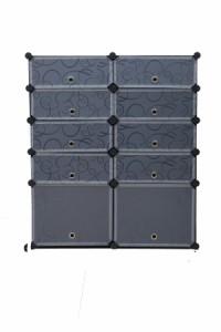 ラック Rack 組立式 組立自由 収納 片付け 整理 10ボックス 仕切り パーテーション 組立自由 衣類収納