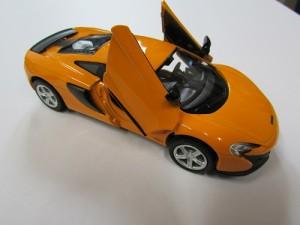 RMZCITY ダイキャストミニカー マクラーレン650S 1/32 オレンジ