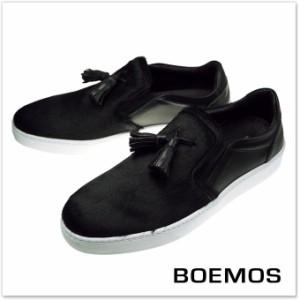 【旧作処分セール 60%OFF!】BOEMOS ボエモス メンズスリッポン I6-4555 / CAVALLINO ブラック
