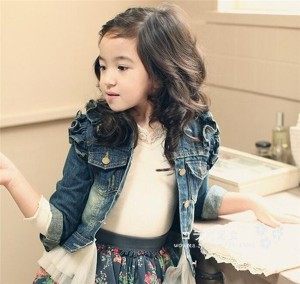 キッズ  子供服  キッズ デニムジャケット 長袖 シンプル カジュアル アウター 春秋  女の子  ブルー
