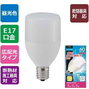 LED電球 T形型 60形相当/昼光色/E17 LDT7D-G-E17 IS9 オーム電機 06-0228