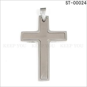 メール便送料無料 ステンレス ネックレス ペンダント トップ クロス 十字架 CROSS ST-00024 チャーム ユニセックス スチール アクセ =┃