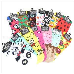 メール便 送料無料 アンクル ソックス 010 スニーカーソックス 靴下 レディース 14種類 レディース くるぶし キャラクター柄 パンク =┃