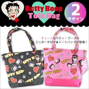 BettyBoop トートバッグ 2デザイン エコバッグ ショッピング バッグ ベティブープ ベティちゃん ベティ キャラクター 生活雑貨 =┃