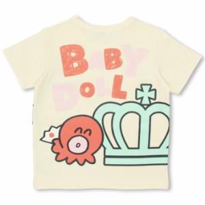 1589637584a59  通販限定 SALE 50%OFF アウトレット 親子ペア サンリオ BIG王冠 Tシャツ ベビーサイズ キッズ ベビードール 子供服 9601K