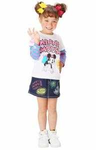 限定SALE60%OFF アウトレット ディズニー スプレー柄デニムスカート ベビーサイズ キッズ ベビードール 子供服/DISNEY-9450K