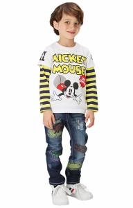 SALE50%OFF アウトレット ディズニー スプレー柄デニム ロングパンツ ベビーサイズ キッズ ベビードール 子供服/DISNEY-9448K