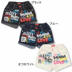 NEW♪ラクガキデニムショートパンツ-ベビーサイズ キッズ ベビードール 子供服-9701K