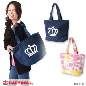 NEW♪王冠トートバッグ(デニム/タイダイ)-雑貨 かばん レディース ベビードール 子供服-8872