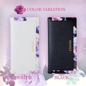 iPhone7 【rienda/リエンダ】 「スクエア/ローズブライト-2color」 手帳ケース iPhone6 iPhone6s 花柄 ブランド レザー カバー