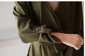 清楚なチェスターコート レディースロングコート トレンチコート レディース大きいサイズ アウター 長袖 OL 通勤 オフィス 暖かい
